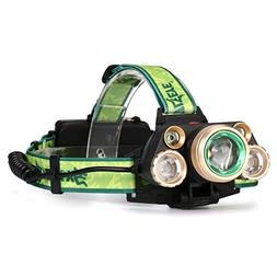 SKYWOLFEYE 35000 LM Headlamp 5X CREE XM-L T6 LED Rechargeabl