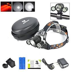 Best LED Headlamp Flash Light - Waterproof Super Bright Head