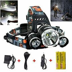 Best LED Headlamp Flashlight 10000 Lumen - IMPROVED LED with