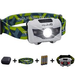 BetLight 4 Modes LED Headlamp/Headlight,Package with Batteri
