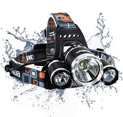 6000 Lumen Headlamp Flashlight - Adults Rechargeable Headlam
