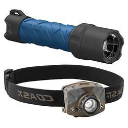 Coast Headlamp/Flashlight Combo Pack