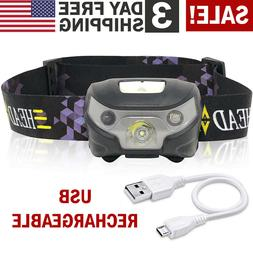 LED Headlamp Flashlight Head Band Light Waterproof Hand Free