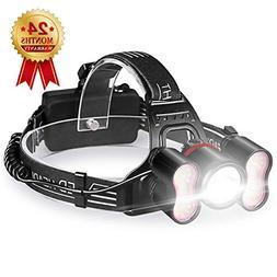 STCT Street Cat 5000 Lumens Headlamp Flashlight, Rechargeabl
