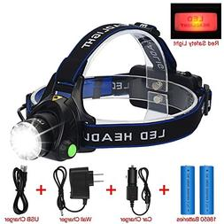 LED Headlamp Flashlight Kit, ANNAN 2000-Lumen Super Bright H