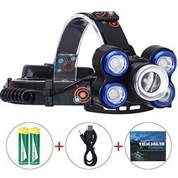 Edomi LED Headlamp Flashlight, Adjustable T6 Super Bright He