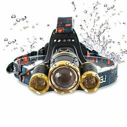 Headlamp Flashlight Rechargeable Waterproof Running Camping