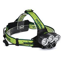 Skywolfeye 25000 Lumens Headlamp Headlight Flashlight Head L