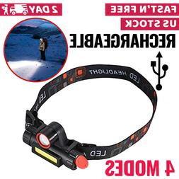 Headlamp LED Flashlight Tactical Brightest Light Camping Hun