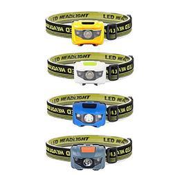 BABOOM BABOOM LED Headlamps Flashlight, 4-Pack Headlamp LED