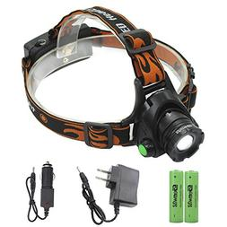 LED Headlamp Power Head Lamp - Genwiss 2000 Lumen XML T6 Hea