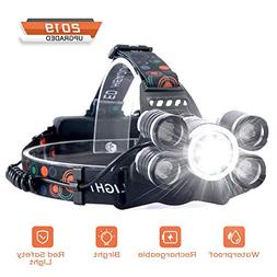 Headlamp Rechargeable, LED Headlight 4 Modes, LED Work Headl