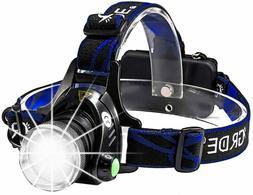 Headlamp, Grde Rechargeable Led Headlamp Headlight Flashligh