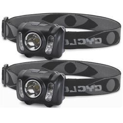 Cyclops 210 Lumen Headlamp 2 Pack Set 3W White LED 2 White R