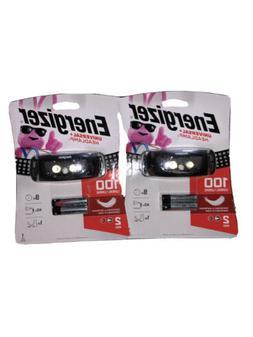 Energizer Headlamp Universal Lot Of 2 LED FlashLight 100 Lum