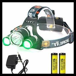 BESTSUN Headlamp W GREEN Light Coyote Hog Hunting Super Brig