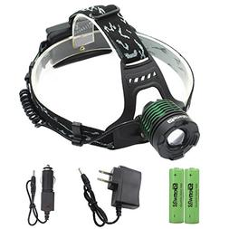 LED Headlamp Waterproof Head Lamp - Genwiss Torch Light XML