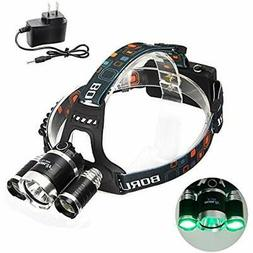 Headlamp With Green Light, Coyote Hog Hunting Super Bright N