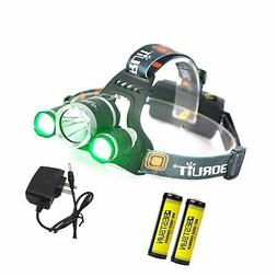 BESTSUN Headlamp with Green Light, Green Coyote Hog Hunting