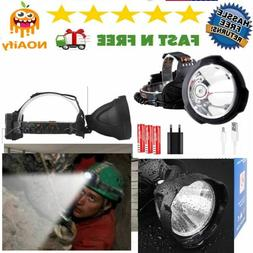Headlamp Xtreme Bright 35000 Lumens LED USB Rechargeable Wat