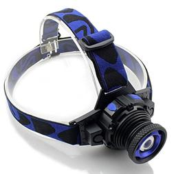 LED Headlamp Zoomable Headlight - Genwiss Lightweight Head L