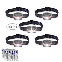 LED Headlamps Flashlight, Zukvye Cree LED Headlamp with Red