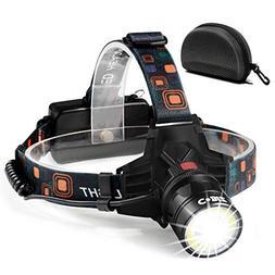 Led Headlamps Flashlight-NEWEST Technology T6 Spot+ COB Floo