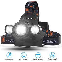 VICTONYUS Headlamps, Hands Free Head Lamp Flashlight Kit, 4