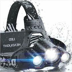 DanForce Brightest waterproof Headlamp Head Lamp with 1080 L