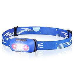 STCT USB Rechargeable Headlight, IPX6 Waterproof Headlights