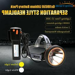 Headlight Powerful Rechargeable Headlamp Waterproof LED Head