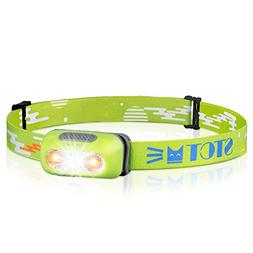 Ultra Bright Rechargeable Headlamp, IPX6 Waterproof Headligh