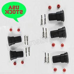 for HID Headlamp 5X H8 H9 H11 H27 880 881 Male Connectors Pl
