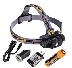 Fenix HL60R 950 Lumens USB Rechargeable Headlamp with AC & C