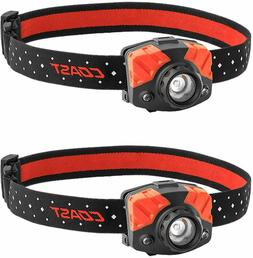 Coast HL7 Focusing 405 Lumen LED Headlamp 2 Pack