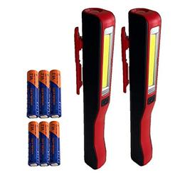 HomesteadAlliance 2-Pack Dual LED Magnetic Flashlights with