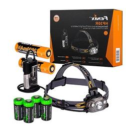Fenix HP30R 1750 Lumen CREE LED Headlamp  2 X Fenix 18650 Li