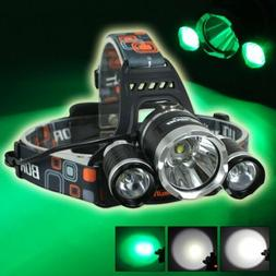 Hunting LED 13000LM 3*XM-L T6 Headlamp Head Light Torch+ 2*1