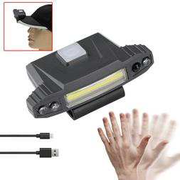 Infrared Induction LED USB Rechargeable Clip-On Cap Light He