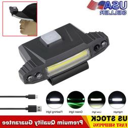 Infrared Induction LED USB Rechargeable Clip On Cap Hat Ligh