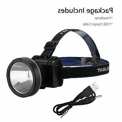 Super Bright Rechargeable Headlight Torch Lumens Hunting