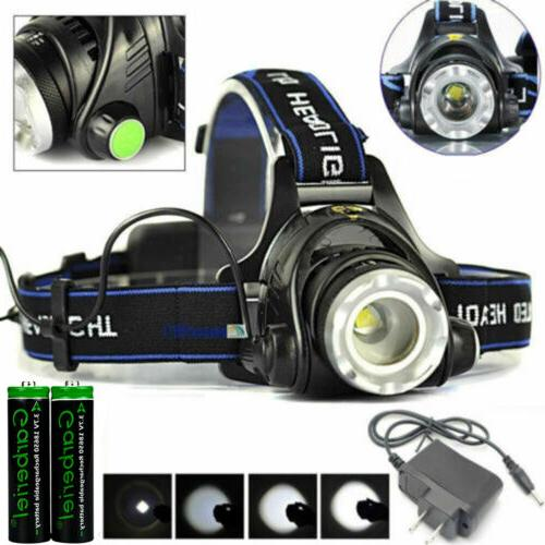100000lm rechargeable head light t6 led tactical