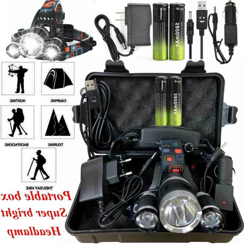 100000LM T6 Headlight Headlamp Head