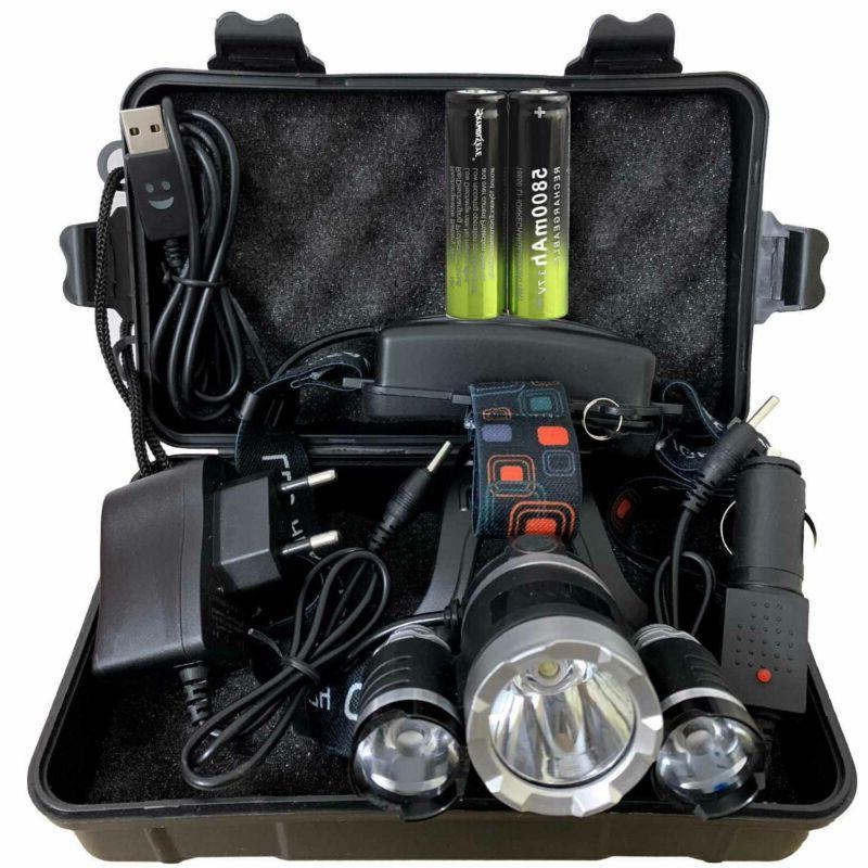 100000lm t6 led headlight headlamp head torch