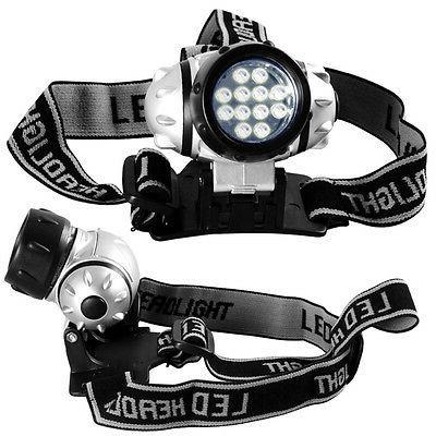 2pack 12 LED Head Lamp Adjustable Strap Multi Mode Flashligh
