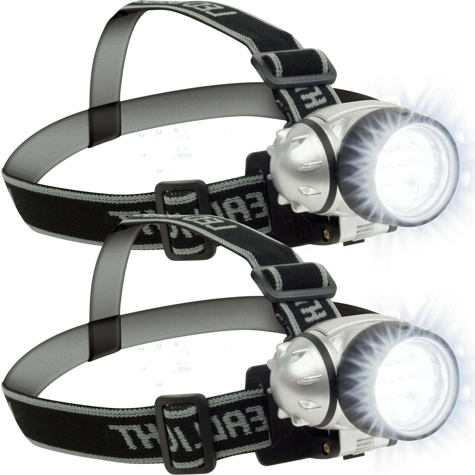 12 led headlamp adjustable strap battery operated