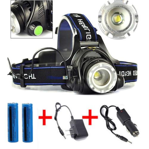 120000 3-Zoom T6 LED Head Light Torch Tactical US