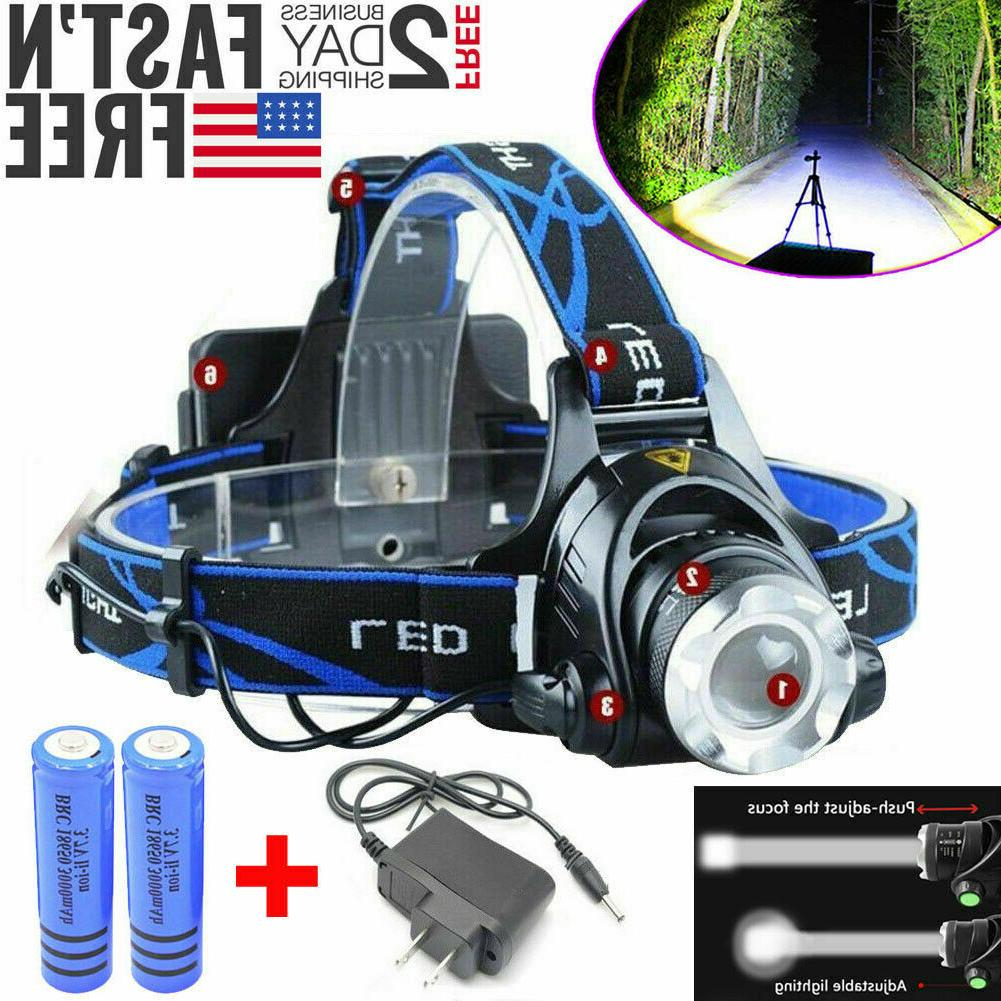 260000LM Head LED Tactical Headlamp 18650