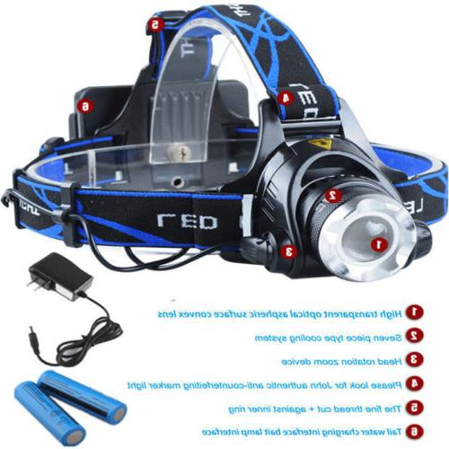 990000LM LED Tactical Charger+18650