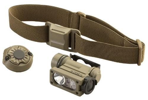 Streamlight Sidewinder II Military Head Flashlight, and Helmet Mount Kit 47 Lumens